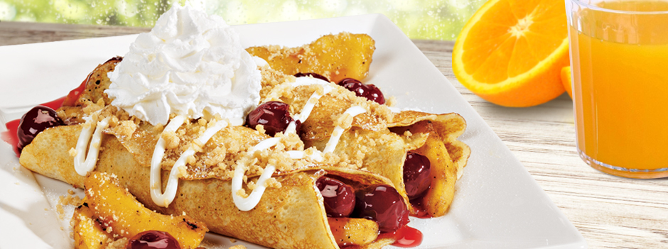 Featured Entrée: Apple Cherry Streusel Crepes