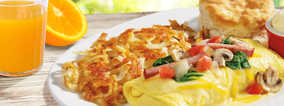 Featured Entrée: Canadian Bacon Omelet