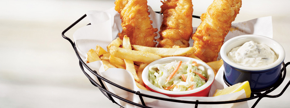 Beer-Batter Fish & Chips