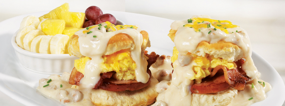 Seasonal Entrée: Bacon Bacon Biscuits & Gravy
